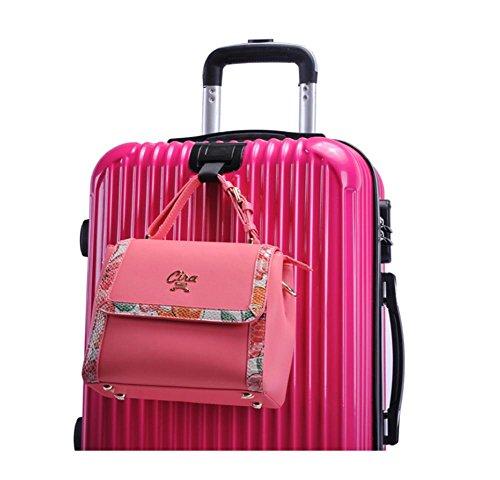 Xiuxiandianju 20 pollici 24 pollici business computer check in valigia gli uomini e le donne Wanxiang Lun ABS-PC bagagli piccoli viaggi casella password (56-75 L) Black