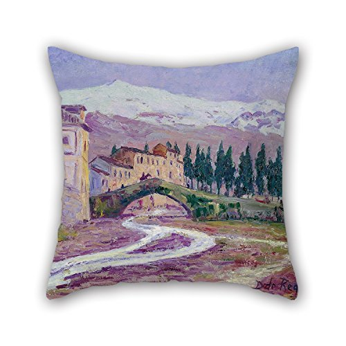 Slimmingpiggy 20 X 20 Inches / 50 By 50 Cm Oil Painting Darío De Regoyos - Sierra Nevada Throw Pillow Case,twice Sides Is Fit For Shop,girls,dining Room,indoor,office,festival (Sierra Oil)