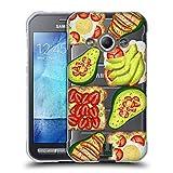 Head Case Designs Toast Und Guacamole Alles Ueber Avocados Soft Gel Hülle für Samsung Galaxy Xcover 3