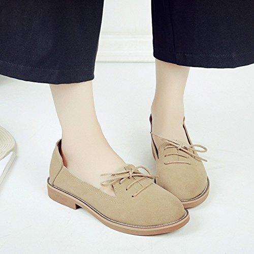 WTUS Femme Compensé Mocassin Femme Casual Tout-match Chaussures Sandales beige2