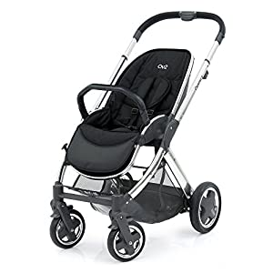 Oyster 2 Mirror Chassis & Seat Unit (Black Handle) Quinny Flexible reversible seat in both Blick directions down to a horizontal lying position. Three Compact wheels-extremely manoeuvrable Classic Zapp handles-Super Strong Hold, easy to steer 10