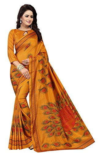 Clothfab Women's Heavy Georgette | Silk | Bhagalpuri Silk Fusion Material New...