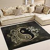JSTEL ingbags Super Soft modernen chinesischen Dragon Tiger Tai Bagua Yin Yang schwarz und weiß, ein Wohnzimmer Teppiche Teppich Schlafzimmer Teppich für Kinder Play massiv Home Decorator Boden Teppich und Teppiche 160x 121,9cm, multi, 63 x 48 Inch