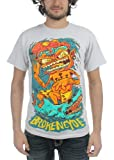 Brokencyde - Mens Surfer T-shirt in Ice Grey