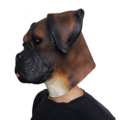 (Bulldog Hunde Kopf Tiermaske Party Show Latex Headgear Halloween Atmosphäre Requisiten)