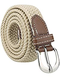 """sourcingmap Women Elastic Stretchy Braided Woven Alloy Buckle Casual Belt Width 1"""""""