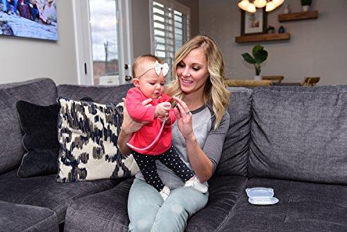 Premium Nasensauger für Baby, weiches Silikon, nicht reizend Spitze, waschbar und wiederverwendbar, keine Filter notwendig, Hospital Grade Snot Sucker für Baby Nase Verstopfung. - 9