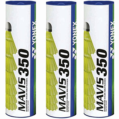 Yonex Mavis 350 Badmintonball Gelb 3X6=18 Stück Nylonshuttle Farbe: Blau/Mittel