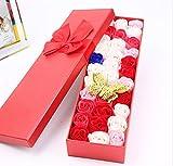 josep. H Valentine 's Day Geschenk 33quadratisch Box Rose Seife Flower Geschenk Box Festive Supplies (lila) rot
