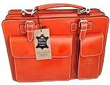 Chicca Tutto Moda CTM Orange Man Aktentasche Organizer, 35x25x12cm 100% Made in Italy
