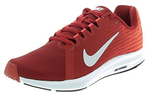Nike Herren Downshifter 8 Laufschuhe, Rot (Gym Red/Vast Grey-Bright Crimson-Black 601), 45 - Für Schuhe Männer Running