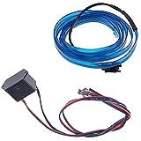 POSSBAY 1M EL Kabel EL Wire Neon Beleuchtung für Weihnachten Halloween Partys Kostüm mit Rot/Schwarz Kontroller
