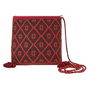 Clutch pink Handgewebt, Ethno Clutch Boho Stil, Handtasche, HANDARBEIT, Kosmetiktasche, Tasche, Geschenkidee für Frauen