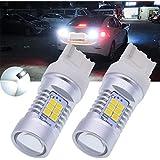 Tuincyn 2-pack 74407440NA 7441992Blanc ampoules LED 2835laiteux objectif LED sauvegarde inversée Tail Turn Signal Frein lumière LED 10,5W DC 12V