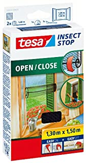 tesa 55033-00021-00 Insect Stop Hook and Loop Open/Close, Easy-On and Easy-Off Insect Screen For windows 1.30 x 1.5 m - Anthracite (B001ULCOHK) | Amazon price tracker / tracking, Amazon price history charts, Amazon price watches, Amazon price drop alerts