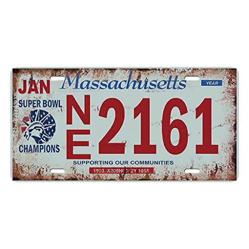 KESOTO USA Kennzeichen Blechschilder Metallschilder Blechbild Schilder - Massachusetts