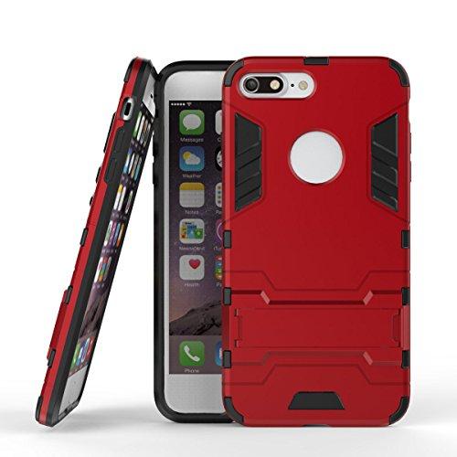 DBIT iPhone 8 Plus /iPhone 7 Plus Custodia,Dual Layer Ibrida Rugged Custodia Morbido Protettiva Bumper TPU/PC Cover Case per iPhone 8 Plus /iPhone 7 Plus,Blu Rosso