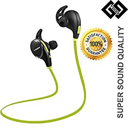 Bluetooth Headset - TAGG Wireless Sports Headphones with Mic || Noise Cancellation || Sweatproof Earbuds, Best for Running,Gym || Stereo Sound Quality || Compatible with Iphones, IPads, Samsung and other Android Devices... (Green)