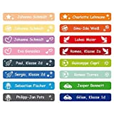 foliado® Namensaufkleber Kinder Etikett 45x7mm Sticker Namensetikett Schule Kita Kleidung (100 Stück) APD-009