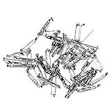 FENICAL Fermo di sicurezza posteriore di 50pcs 32mm in acciaio inox Bar Pins Spilla (argento)