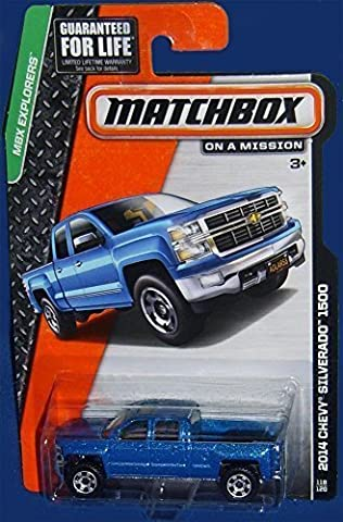 Matchbox Chevy Silverado 1500 Blue - MBX Pick-up Truck