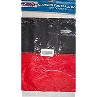Diamond Football Juego de 4banderines de esquina–varios colores, rojo/negro