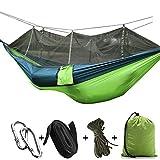 Smony - Hamaca portátil de jardín y al Aire Libre con mosquitera - Hamacas Multiusos adecuadas para Camping, Senderismo, Viajes, Uso de Vacaciones, también para Uso...