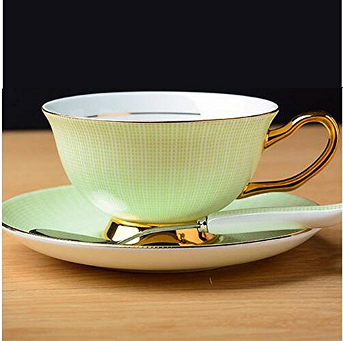 SSBY Tazze in ceramica, porcellana bone China, tazza di caffè di stile europeo tazza di caffè insieme, High-end regalo creativo dell'oro , green