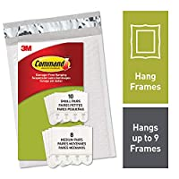 Command PH203-18NA Hanging Strips, White, Small and Medium