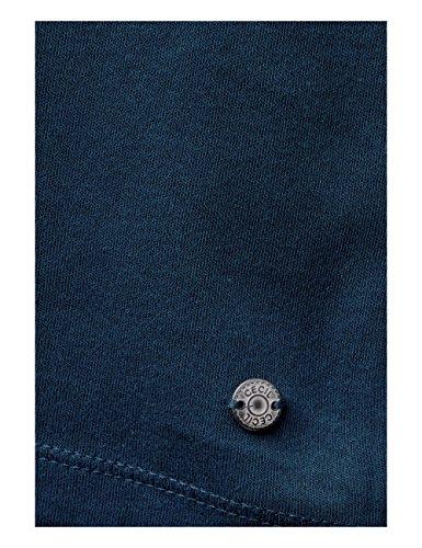Cecil Damen Langarmshirt Pia 311485 Blau (Deep Petrol Blue 11087)