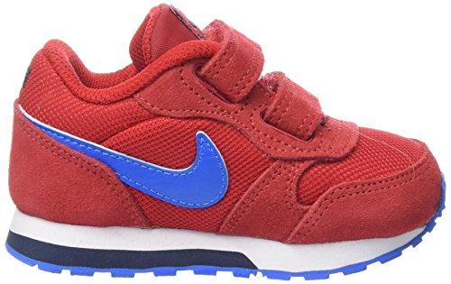 Nike Md Runner 2, Chaussures Bébé marche mixte bébé Rouge (University Red/Pht Blue-Obsdn)