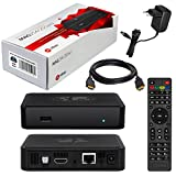 MAG 254w1 Original Infomir / HB-DIGITAL IPTV SET TOP BOX mit WLAN (WiFi) integriert bis zu 150Mbps (802.11 b/g/n) Streamer Multimedia Player Internet TV IP Receiver + HB Digital HDMI Kabel