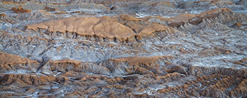 Panoramic Images - Eroded Hills at Sunset in The Atacama Desert Valle de la Luna Los Flamencos National Reserve Near San Pedro de Atacama Antofagasta Region Chile Photo Print (68,58 x 22,86 cm)