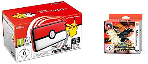 Nintendo 2DS XL Poké Ball Edition + Pokémon Ultrasonne Fan Edition