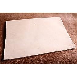 piel gruesa auténtica, 18x 26,5cm Grande corte, piel pieza, piel lisa, piel vegeta, 3,2–3,5mm de grosor y rugosa