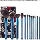 Make Up Pinsel Make Up Pinsel Set Der Kosmetikpinsel12 GrüNes Perliges Blau Make-Up Pinsel Professionelle Make-Up-BüRste Make-Up-Stift-Set