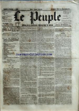 PEUPLE (LE) [No 166] du 04/05/1849 - COMITE DEMOCRATIQUE-SOCIALISTE DES ELECTIONS - MM. BAC - CARET - CHARASSIN - CONSIDERANT - D'ALTON-SHEE - DEMAY - GENILLER - GREPPO - HERVE - HEZAY - LAGRANGE - LAMENNAIS - LANGLOIS - LEBON - LEDRU-ROLLIN - LEROUX - MADIER DE MONTJAU - MALLARMEE - MONTAGNE - PERDIGUIER - PROUDHON - PYAT - RIBEYROLLES - THORE ET VIDAL - SEANCE DE L'ASSEMBLEE NATIONALE - REFUS DE L'AMNISTIE