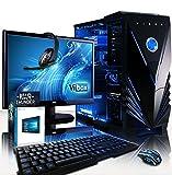 """VIBOX Apache 9XLW - Ordenador para gaming (21.5"""", AMD FX-6300, 32 GB de RAM, 2 TB de disco duro, Nvidia Geforce GTX 960, Windows 10) color neón azul - Teclado QWERTY Inglés"""