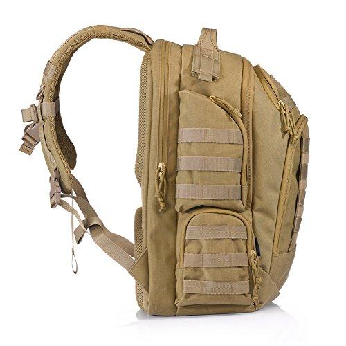 YAKEDA® Leichter packbarer Spielraum-Rucksack Praktischer faltender wandernder Daypack - haltbar u. Wasserdicht-KF011 (Black) Mud color