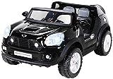 Actionbikes Motors Kinder Elektroauto BMW Mini Beachcomber XXL 2 Personen Lizenziert Original Kinderelektroauto Kinderfahrzeug Auto (Schwarz)