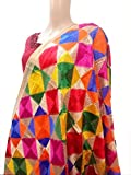 #3: phulkari dupatta multi coloured thread work embroidered dupatta - phulkari bagh style from punjab