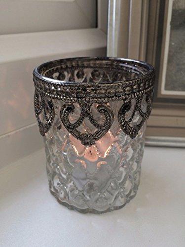 Insieme del supporto 3 di stile del cuore Vintage luce del tè della candela Tabella Decorazione