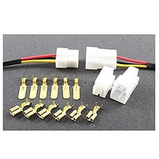 Tama Kabel/Draht Multi Plug Block Verbinder 3-Fach mit Crimpklemmen (2 Set Stecker/Buchse)