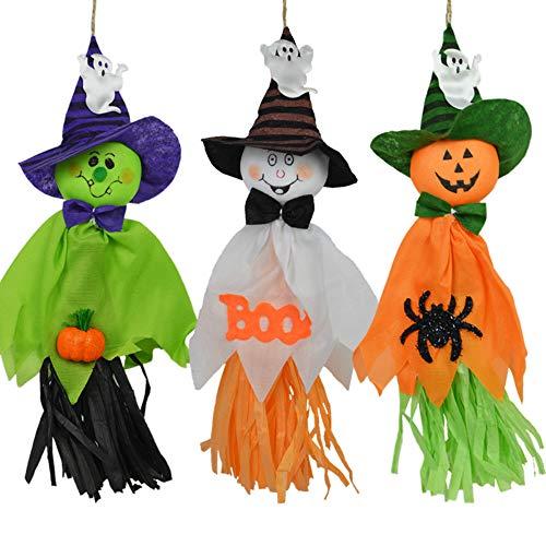 CHBOP 3 Stück Halloween Gespenst Geist Deko Hänger Party Dekoration Grusel Wandbehang