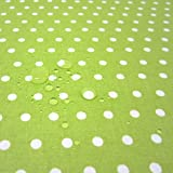 Stoff Meterware wasserdicht Punkte grün hellgrün weiß