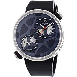 "Meccaniche Veloci Due Valvole ""Naked"" Limited Edition Men's Automatic Watch with Grey Dial Analogue Display and Black Rubber Strap W125N352497024"