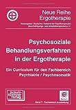 Psychosoziale Behandlungsverfahren in der Ergotherapie: Ein Curriculum f. d. Fachbereich Psychiatrie/Psychomatik