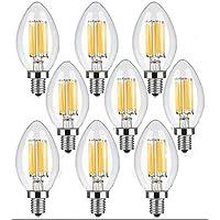 9 Confezione Edison Lampadine LED D'epoca, WONFAST 6 Watt C35 E14 Dimmerabile Antico Filamento Candela Lampadine di Vetro Libera 2700K (bianco caldo)