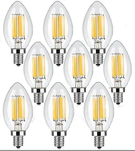 9 Pack Vintage Edison LED Ampoules, WONFAST 6 Watt C35