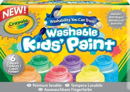 Crayola Washable Metallic Paint Set, 2-Ounce, 6 Count by Crayola